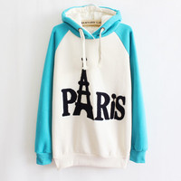 Paris Tower Letters Sweatershirt
