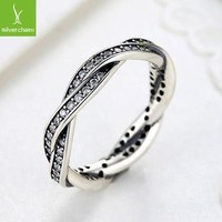925 sterling Rings with full Crystal Compatible With European Fit Original Pandora We