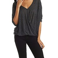 DOLMAN SLEEVE TWISTED TOP