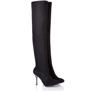 Spring/Autumn Folding Over the Knee Boots Thin High Heel  Boots