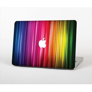 The Straight Abstract Vector Color-Strands Skin Set for the Apple MacBook Air 13""