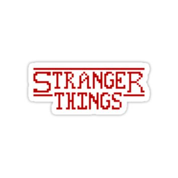 'Stranger Things - Pixel' Sticker by fawned