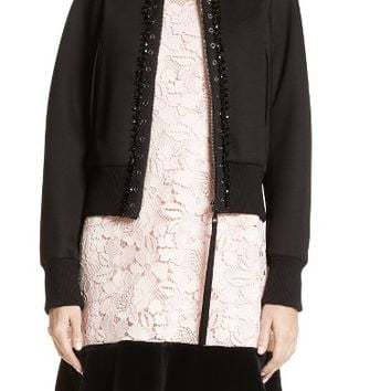 N°21 Floral Embroidered Bomber Jacket | Nordstrom