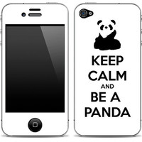 Keep Calm and Be A Panda iPhone 4/4s Skin FREE SHIPPING