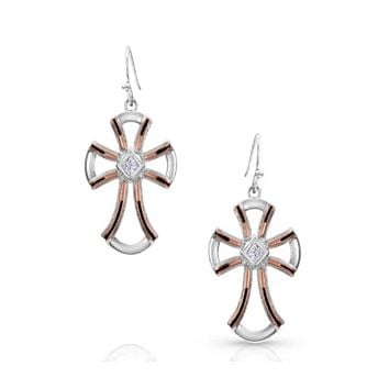 Montana Silversmith ~ Cabled Cross Earrings