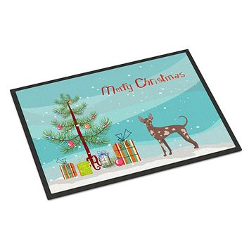 Mexican Hairless Dog Christmas Tree Indoor or Outdoor Mat 24x36 CK3473JMAT