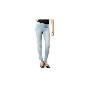 Jordache Women's Pull On Denim Jeggings, 10, Light Enzyme Wash