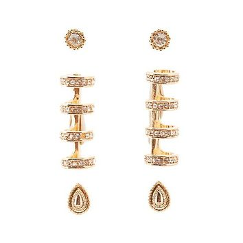 Embellished Ear Cuffs & Stud Earrings Set