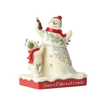 Coca Cola Snowman & Baby Bear Coke Figurine by Jim Shore New with Box