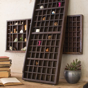 Antique Wooden Printers Tray