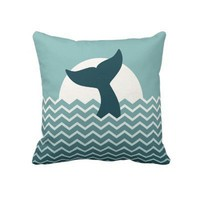 Whale Tail Throw Pillow from Zazzle.com
