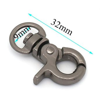 20pcs/lot Luggage Bags Snap Hook 9mm*32mm Small Clamp Buckle Fastener Bag Hanger Metal Hardware Alloy Firm Parts Accessories