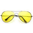 Retro Classic Metal Aviator Multi Color Tinted Lens Aviator Sunglasses 8405 59mm