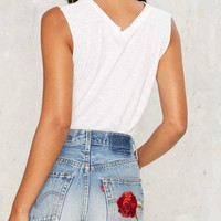 After Party Vintage Mother Rose Levi's 505 Cutoff Shorts