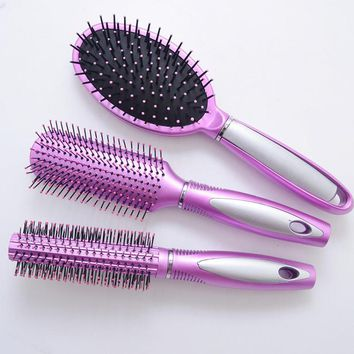 3Pcs / Lot New Airbag Massage Comb Antistatic Hair Comb Styling Hairbrush Hair Care Styling Tools Set