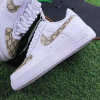 Gucci x NIKE Air Force Women Men Running Sport Casual Shoes Sneakers