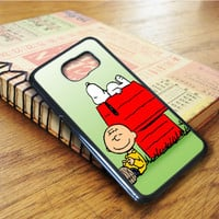 Snoopy And Peanuts Cartoon Samsung Galaxy S6 Edge Case