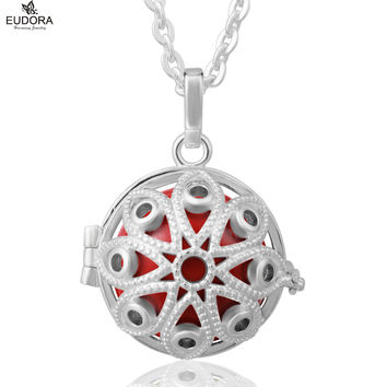 2016 Eudora Ball Pendant Silver Plated Harmony Bola Ringing Chime Ball Pendant Necklace Jewelry For Pregnant Women and Baby