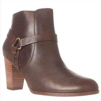 Cole Haan Calixta Ankle Booties, Chestnut, 9 US
