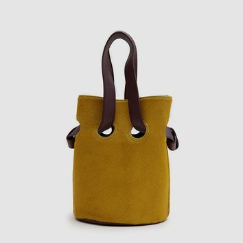 TRADEMARK / Goodall Bucket Bag in Mustard