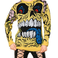Long Sleeve Monster Pattern Sweater