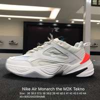 Nike Air Monarch the M2K Tekno White Red Sports Running Shoes Sneaker - AO3108-001