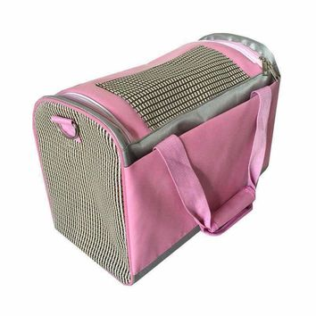 Classics Pet products dog carriers pet cat puppy dog bag pink color slings tote for small animals M size dog travel bag