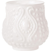 Milk Glass Tea Light Holder