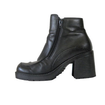 90s Platform Boot 8 Black Platform Boot 90s Chunky Heel Boot 90s Black Boot Block Heel Boot Platform Women Boot 90s Rave Boot 90s Ankle Boot