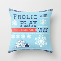 Frolic And Play Throw Pillow by Heather Dutton