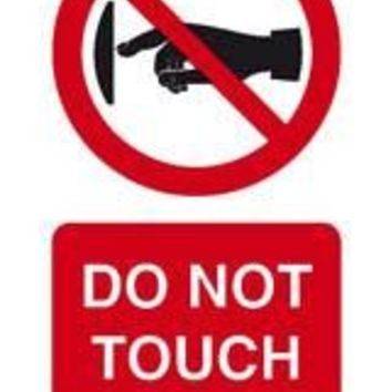 Tie tag, Do not touch - Pack of 10