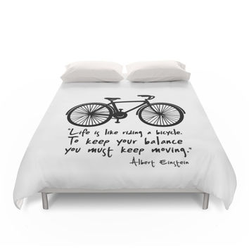 Society6 Life Is Like Riding A Bicycle... Duvet Covers