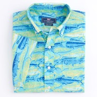 Fish Print Short-Sleeve Murray Shirt