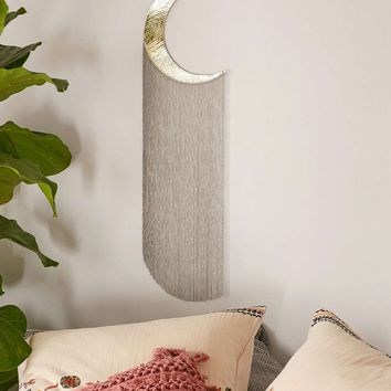 Fringed Hammered Moon Wall Hanging - Urban Outfitters