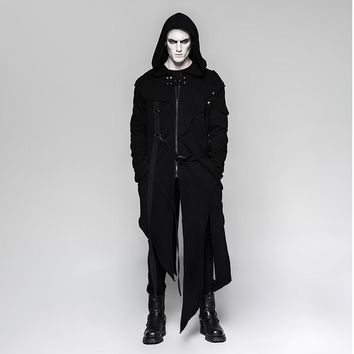 Trendy Punk Men's Gothic Darkly series Jacket  removable sleeves adds Optional collocation coat AT_94_13