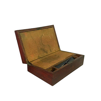 1890s Lap Desk, Victorian Office Supply, Portable Writers Storage Container, Vintage Travel Case