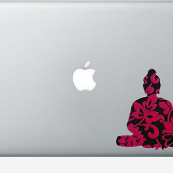 Buddha Wall Art - Fabric Decal - Laptop sticker - Mac Decal - Buddha Home Decor