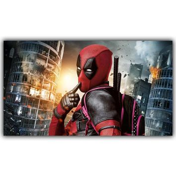 Deadpool Dead pool Taco  Poster Super Hero Movie Home Decor Silk Poster Picture Print Wall Decor 30x53cm 60x106cm AT_70_6