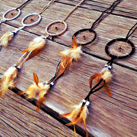 Bohemian Dreams-Dream catcher Necklace (Large Dream catcher with extra Long Sueded Cord)