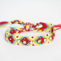 Rhinestone Friendship Bracelet - Sunrise