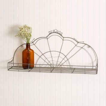 Vintage-Inspired Wire Scalloped Shelf