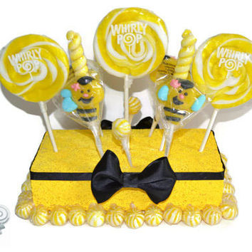 Lollipop Candy Bumble Bee Centerpiece Baby Shower
