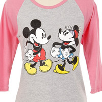 Mickey and Minnie Raglan Tee