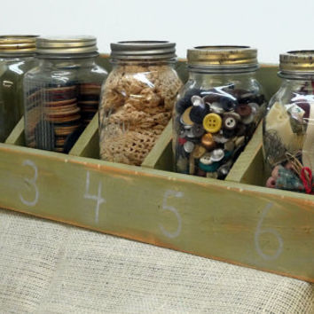 Beautiful Mason Jar Office Organizer Mason Desk Storage Dark Grey Navy And.