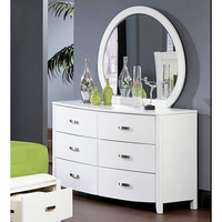 Homelegance Lyric 6 Drawer Dresser w/ Mirror in White