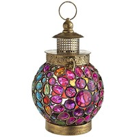 Indoor Outdoor Bohemian Jewel Hanging Lantern