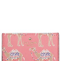 kate spade new york camel march card case | Nordstrom