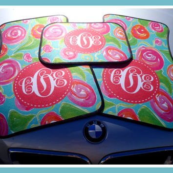 Car Mats Monogrammed Personalized Car Mats Custom Preppy Car Accessory Front Car Mats Accessories Sweet 16 Car Floor Mats