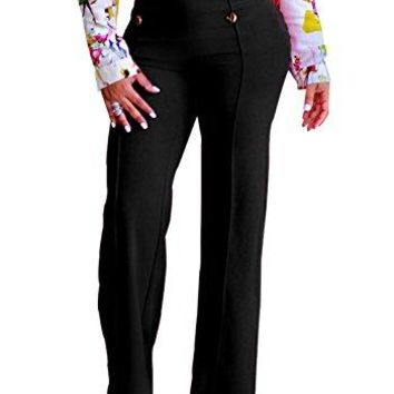 XARAZA Women's High Waist Bell Bottoms Palazzo Wide Leg Pants