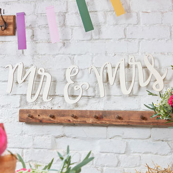 Mrs and Mrs Mr And Mrs Wooden Butning Sign